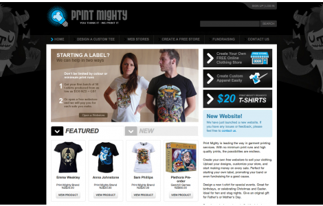 Print Mighty Custom T shirts. Digital Printing. Merch. Apparel.