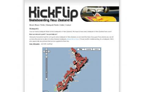 KickFlip Skateboarding New Zealand