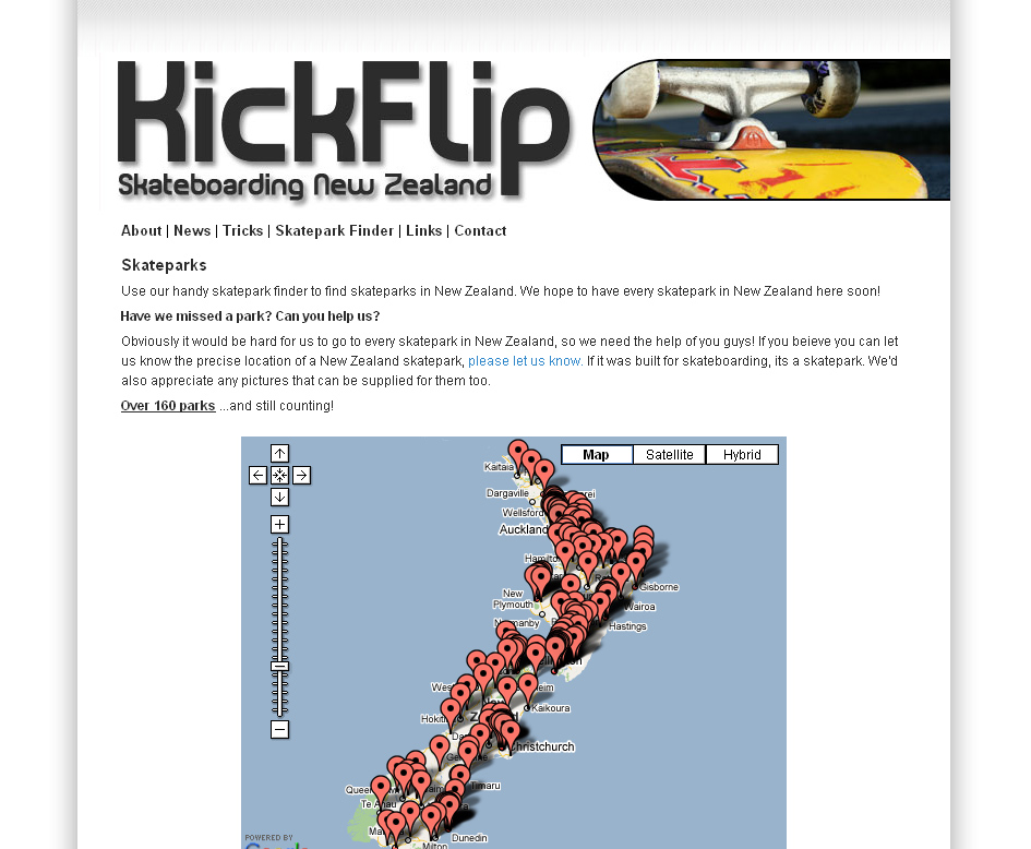 Kickflip - Skateboarding New Zealand